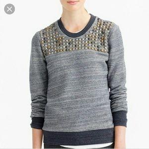 J. Crew Studded Sweatshirt!